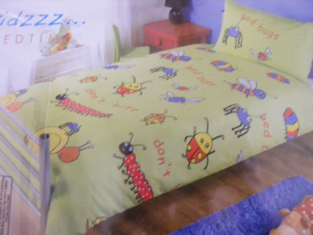 BN BUGS SINGLE DUVET + PILLOWCASE SET